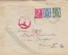 LETTRE. COVER. BELGIUM. 1943. SANATORIUM ALSEMBERG ST GENESIUS-RODE TO PARIS FRANCE . GERMAN CENSOR  /  2 - Ohne Zuordnung