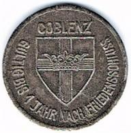 Allemagne - Nécessité - COBLENZ - 25 Pfennig 1918 - Monétaires/De Nécessité