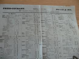 Pub Tarif Preis Courant Leipzig 1859 Sachsse Dampf Fabrik äthrischer Oele Und Essenzen - Allemagne