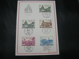 "BELG.1973 1662-1665 - FDC Filatelie Card ""Culture : Abdijen/Abbeys Gent Heverlee Floreffe Lobbes "" - Herdenkingskaarten"