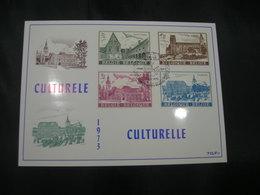 """BELG.1973 1662-1665 - FDC Filatelic Card  Bruxelles/Brussel """"Culture : Abdijen/Abbeys Gent Heverlee Floreffe Lobbes """" - 1971-80"""