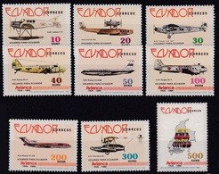 ECUADOR 1988. AVIANCA 60 YEARS.  Aviation. Airplanes. Aircrafts. Aircraft.  MNH - Avions