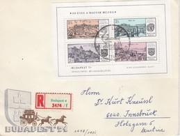 UNGARN 1971 - Recoschmuckbrief - MiNr: 2650-2653 Bl. 79 A - Ungarn