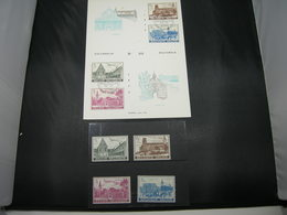"BELG.1973 1662-1665 - FDC Echophilcard N°181 Brus/Brux + Timbres Serie**   ""Culture : Abdijen/Abbeys Gent Heverlee Flore - FDC"