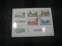 "BELG.1973 1662-1665 - FDC Filatelie Card  Heverlee ""Culture : Abdijen/Abbeys Gent Heverlee Floreffe Lobbes "" - 1971-80"