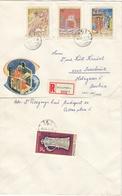 UNGARN 1971 - Recoschmuckbrief - MiNr: 2711-2717+2718 Bl. 85A Komplett 4 Briefe - Ungarn