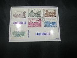 """BELG.1973 1662-1665 - FDC Filatelie Card  Floreffe """"Culture : Abdijen/Abbeys Gent Heverlee Floreffe Lobbes """" - 1971-80"""