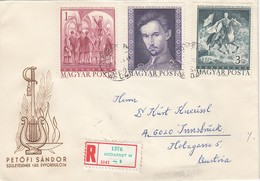 UNGARN 1972 - Recoschmuckbrief - MiNr: 2828-2830 A Komplett - Ungarn