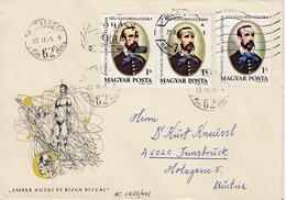 UNGARN 1973 - Recoschmuckbrief - MiNr: 2833 3x - Ungarn