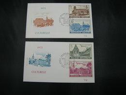 "BELG.1973 1662-1665 - FDC Lobbes ""Culture : Abdijen/Abbeys Gent Heverlee Floreffe Lobbes "" - 1971-80"