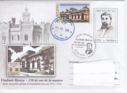 2018 , Moldova  Moldavie  Moldawien , V. Hertza , Chisinau , Lawayer & Politician , Pre-paid Envelope - Moldova