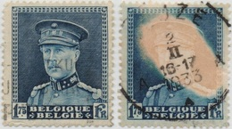 BELGIUM 1931/32 KING ALBERT I 1.75 FR USED STAMP WITH VERY RARE ERROR ON PICTURE - Usati