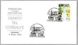 EL AGUA - RIQUEZA NATURAL - Water, Natural Wealth. JARDINES DEL GENERALIFE. Granada, Andalucia, 2001 - Protección Del Medio Ambiente Y Del Clima