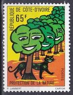 Elfenbeinküste Ivory Coast Cote D'Ivoire 1976 Umweltschutz Environmental Protection Bäume Trees Panther, Mi. 489 ** - Côte D'Ivoire (1960-...)