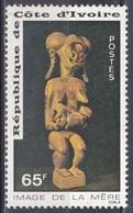 Elfenbeinküste Ivory Coast Cote D'Ivoire 1976 Gesellschaft Muttertag Mother's Day Skulpturen Sculptures, Mi. 482 ** - Côte D'Ivoire (1960-...)