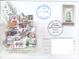 """2016 , Moldova , Moldavie ,  """" 60 Years Of The Issuance Of The First Stamps """"Europa"""" , Pre-paid Envelope , Stationary , - Moldova"""