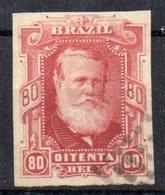 Bresil 1878; N°Y:40 ; Ob; . ;Pedro II ; Non Dent. ;belles Marges; Cote Y : 12.00 E. - Brasil