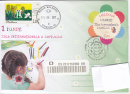 2017 , Moldova , International Children's Day  , Pre-paid Envelope , Special Cancell First Day - Moldova