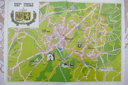 Strassenkarte GEMEINDE KELMIS, LA CALAMINE Mit Fotos H. Scheiff Ca. 1985 - Publicités