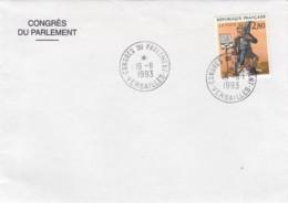 ENVELOPPE AVEC CACHET CONGRES DU PARLEMENT 1993 - VERSAILLES - FDC