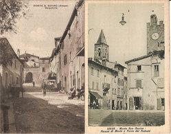 (C).Monte S.Savino(AR).Lotto 2 Cartoline.F.to Piccolo.Ottimo Stato Di Conservazione (c18) - Arezzo