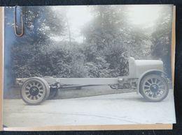 Photo Originale Camion SAURER 5 AD Chassis Nu Sur Bandage - Cars