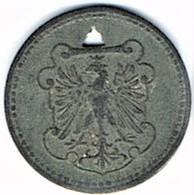 Allemagne - Nécessité - FRANKFURT - 10 Pfennig 1917 (zinc) - Noodgeld