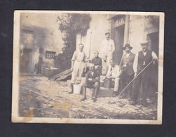 Photo Originale   Militaires Civils Paysans Archives Felix Archen Marange Silvange Moselle 57 - Lugares