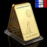 1 Lingot Plaqué OR ( GOLD Plated Bar ) - Loup Wolf Yosemite National Park - Monnaies