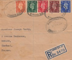 LETTRE. COVER. PART. GREAT BRITAIN. REGISTERED STAND B.C.  LONDON TO FRANCE.   /  2 - Ohne Zuordnung