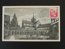 Carte Maximum Card Couvent De Bebenhausen Tubingen Wurttemberg 1947 - Zone Française