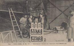 Buc : Paris-Rome, 28 Mai 1911 - Déperdussin Remplit Son Réservoir D'automobiline - Buc
