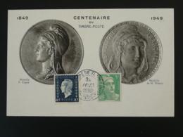 Carte Maximum Card Marianne De Dulac Et Gandon Centenaire Du Timbre 1949 - Cartoline Maximum