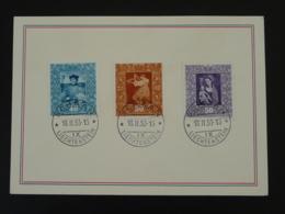 Série Peintures Paintings Sur Carte Liechtenstein 1953 - Liechtenstein