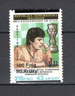 MADAGASCAR N° YVERT 1681T SURCHARGE NEUF SANS CHARNIERE COTE MICHEL 100.00€   FIDE ECHECS - Madagascar (1960-...)