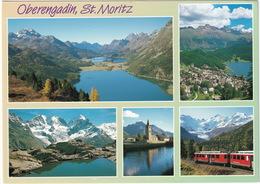 Oberengadin, St. Moritz - Bernina Bahn  - (CH.) - Treinen