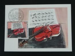 Carte Maximum Card Raoul Dufy Violon Violin Salon Philatélique D'automne 1965 - Impressionismo