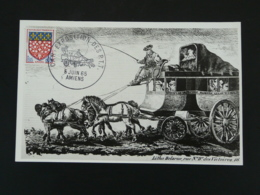 Carte Postcard Diligence Histoire Postale Postal History CAR Exposition PTT Amiens 80 Somme 1965 - Diligences