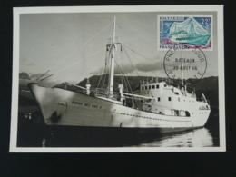 Carte Maximum Card Bateau Ship Polynésie 1966 - Maximumkarten