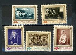 ROUMANIE - TABLEAUX N° Yt 2248/2252 Obli. - 1948-.... Republics