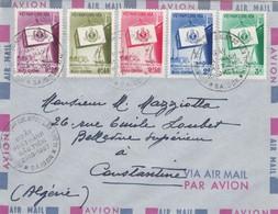 LETTRE. COVER. VIET-NAM. 1957. NGAY PHAT-HANH DAUYIEN 21 10 57. SAIGON TO CONSTANTINE ALGERIA  /    2 - Ohne Zuordnung