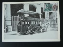 Carte Maximum Card Diligence Mail Coach Cheval Horse Journée Du Timbre Paris 1969 - Diligences