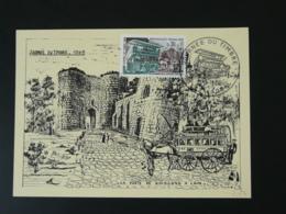 Carte Maximum Card Diligence Mail Coach Cheval Horse Journée Du Timbre 02 Laon 1969 - Diligences