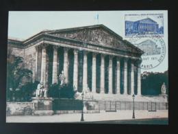 Carte Maximum Card Chambre Des Députés Palais Bourbon Union Interparlementaire 1971 - 1970-79