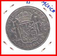 ESPAÑA MONEDA AÑO 1806 FM MÉXICO 8 REALES BUSTO CARLOS IIII - Primeras Acuñaciones