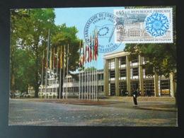 Carte Maximum Card Siège Du Conseil De L'Europe Strasbourg 1974 - 1970-79