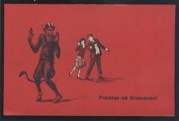 KRAMPUS DEVIL OLD POSTCARD #069 - Saint-Nicholas Day
