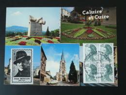 Carte Postcard Vignette Cinderella Jean Moulin Résistance 69 Caluire Rhone 1983 - Guerre Mondiale (Seconde)