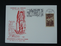 Carte Maximum Card Catastrophe Minière Mine Flamme Concordante 42 Villars Loire 1984 - Géologie