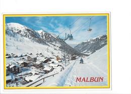21273 - Malbun Mit Sesselbahn Sareiserjoch Télésiège Lugeurs ( Format 10 X 15 ) - Liechtenstein